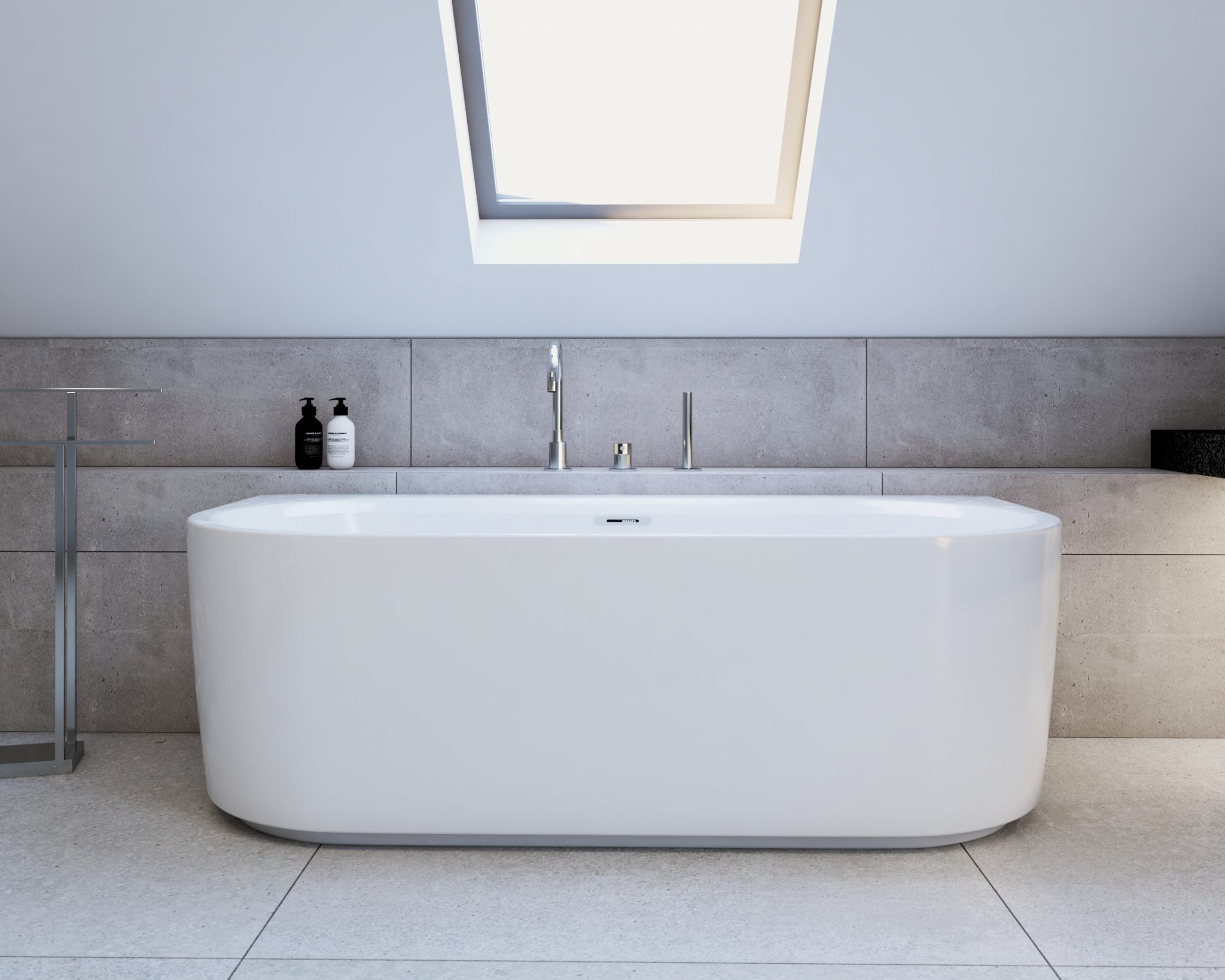 Domowe Spa - salon kąpielowy na poddaszu; wanna przyścienna